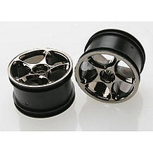 Traxxas 2472A Tracer 2.2in. Black Chrome Rear Wheels (2) - Bandit