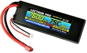 Lectron Pro 11.1v 7600mah 75C Hard Case Lipo Battery With Deans Connector