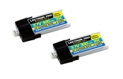 Lectron Pro 300mAh 1S 3.7V 35C LiPoly 2-Pack - MCPX