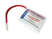 CSR 400mAh 3.7V Single Cell 1S LiPoly Pack - 15C