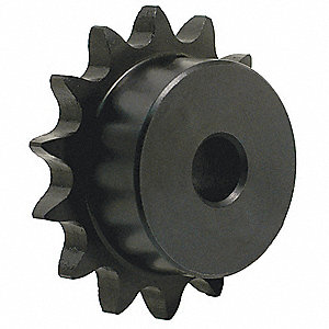 1/4 pitch Type B Sprocket - 15 teeth, 1/2 inch bore