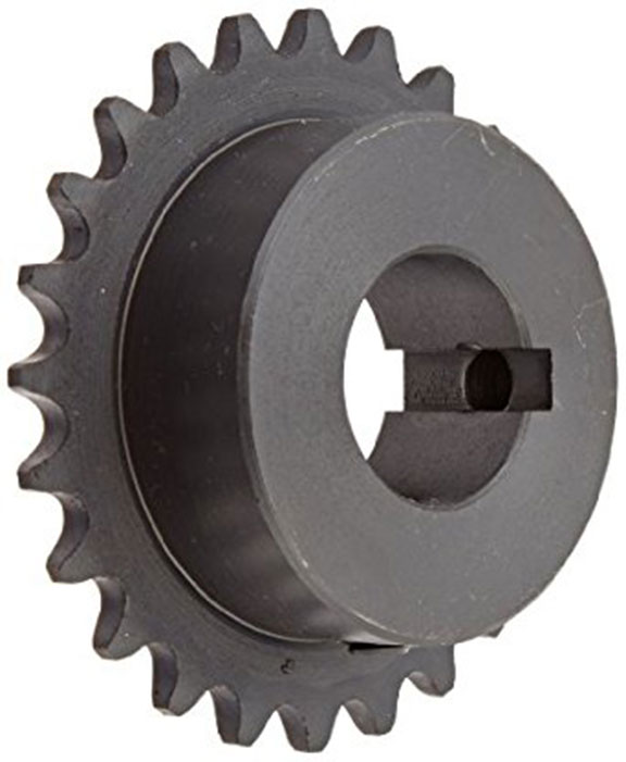 1/4 pitch Type B Sprocket - 22 teeth, 3/4 inch bore