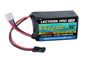 Lectron Pro 6.6v 2000mAh 5C liFe Receiver Hump Pack Battery w/ Servo Connector