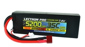 Lectron Pro 7.4V 5200mAh 35C Lipo Battery with Deans-Type Connector