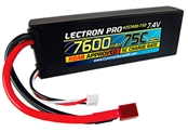 Lectron Pro 7.4V 7600mAh 75C Lipo Battery - Deans Connector