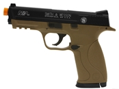 Smith & Wesson Licensed M&P40 Full Size Airsoft Spring Pistol (Color: Dark Earth)