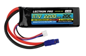 Lectron Pro 2200mAh 3S 11.1V 20C LiPoly Pack - EC3 Connector