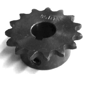 1/2 pitch Type B Sprocket - 15 teeth, 1 inch bore