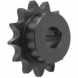 3/8 pitch Type B Sprocket - 18 teeth, 1 inch bore