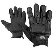 Gloves - V-TAC Full Finger Plastic Back NEW-Black-M