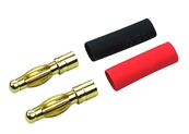 4mm Banana Connectors Male (2) Red & Black