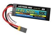 Lectron Pro™ 14.8V 5200mAh 50C Lipo Battery Hard Case with XT60 & Traxxas Connector