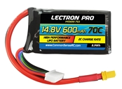 Lectron Pro™ 14.8V 600mAh 70C Lipo Battery with XT30 Connector