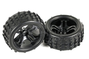 58135 wheels w/ tire (1/16 HSP buggy & truggy)