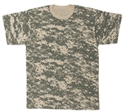 Mens ACU Digital Poly Cotton Camouflage T-Shirt - S