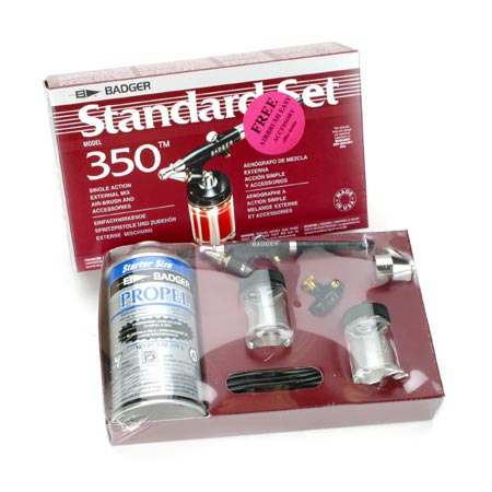 350 Airbrush Set with Propellant by Badger Air-brush Co.