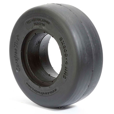4 Inch Carefree Tires 8.00 x 3.00 x 2.50  Smooth Tread