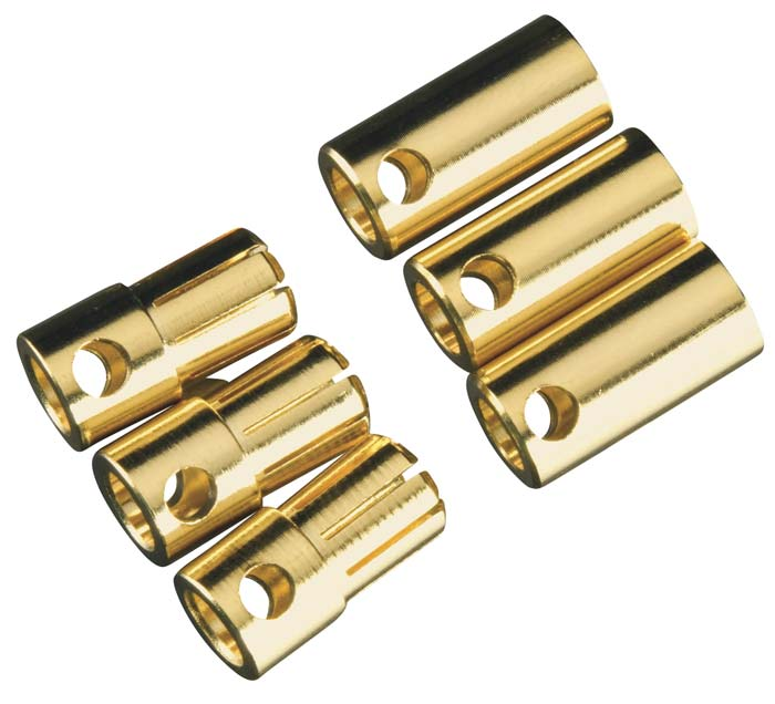 Castle Creations 6.5mm Bullet Connectors, 3 sets