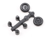 Dubro 3/8in Micro Tail Wheels with Retainers