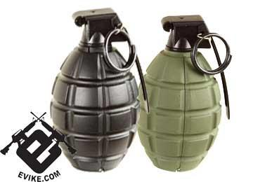SY Airsoft Green Gas Powered Hand Grenade (Pineapple Type) - Black