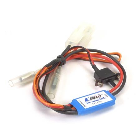 E-flite 20-Amp Mini Brushed ESC with Brake