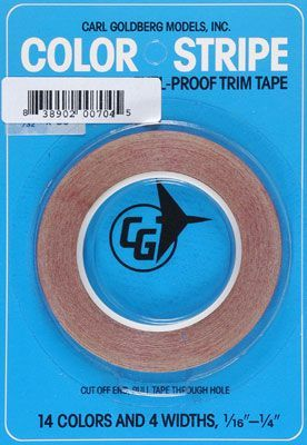 Goldberg Color Stripe Trim Tape Black 1/16th