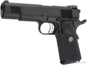 WE Full Metal 1911 Railed Frame Heavy Weight Airsoft Gas Blowback Pistol - Desert