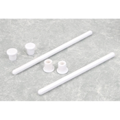 HobbyZone 2-Wing Hold-Down Rods with Caps: Super Cub LP
