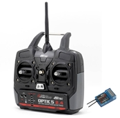 Hitec Optic 5 5-Channel 2.4GHz Transmitter/Receiver Package