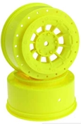 Hazard - SC10 / SC10 4x4 3mm Yellow Wheel
