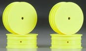 J Concepts Mono TLR 22 Front Wheel Yellow 4pc