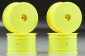 J Concepts Mono TLR 22 Rear Wheel Yellow 4pc