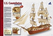 Latina 1/85 U.S. Constellation Wooden Ship