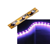Self-Adhesive 2 inch 3 Lights LED Light Strip - Purple