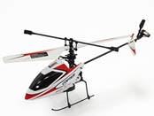 V911 RTF 4CH 2.4GHz Mini Radio Single Propeller RC Helicopter with Gyro - Red & White