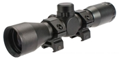 AIM 4X32 Compact Mil-Dot Scope w/ Ranger Finder Recticle & Steel Ring Mount Set