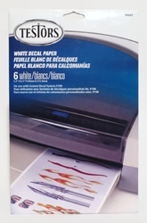 Testors Decal Paper 6 White