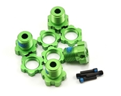Traxxas 17mm Wheel Hubs Green Anodized