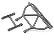 Rear Bumper / Bumper Mount, Black: Slash