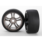 Front Tire and Black Chrome Wheels (2):XO-1