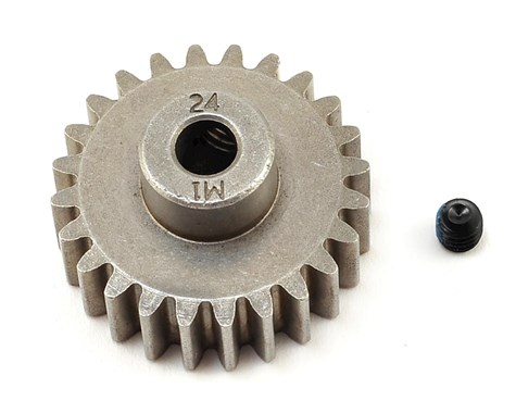 Gear, 24-T pinion (1.0 metric pitch) (fits 5mm shaft)/ set screw (compatible with steel spur gears)