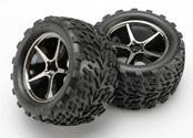 Gemini Blk Chrome Wheels,Talon Tires(2): 1/16 ERV