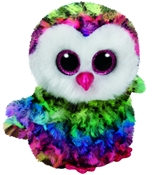 TY Beanie Boos - Owen the Multicolored Owl (Small)