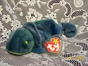 Ty Beanie Baby - Rainbow the Chameleon - Blue