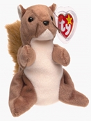 Ty Beanie Baby - Nuts the Squirrel