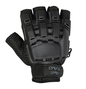 V-TAC Half Finger Plastic Back Gloves, Black M/L