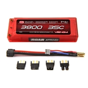 Venom 3800mAh 7.4V 2S Double Cell 35C Hard Case LiPo Pack - Universal Connector