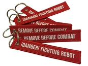 Fighting Robot Combat Tag Keychain