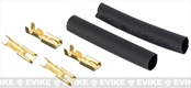 Pro-arms Gold Plated Motor Connectors Set for Airsoft AEG w/ Shrink Tubing