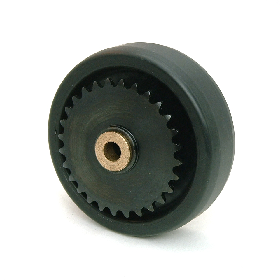5 Inch BattleKit Hard Plastic Robot Wheel - 28-Tooth Sprocket